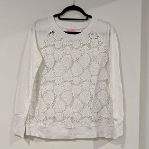 Lilly Pulitzer Palm Leaf Lace Top